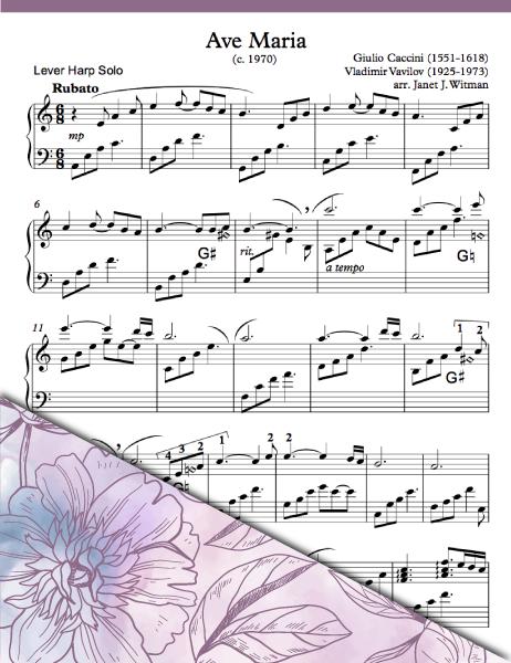 Ave Maria - Caccini/Vavilov (Lever Solo) - Brandywine Harps