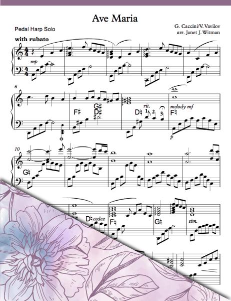 Ave Maria - Caccini/Vavilov (Pedal Solo) - Brandywine Harps