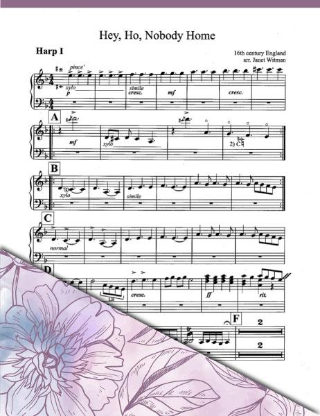 Hey Ho Nobody Home (Ensemble) Harp 1 - Brandyine Harps