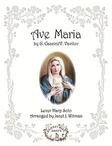 Ave Maria - Caccini/Vavilov - Harp Sheet Music - Brandywine Harps