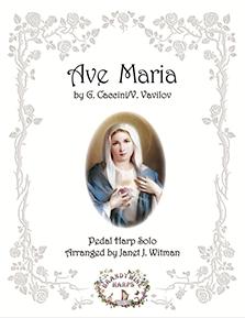 Ave Maria - Caccini/Vavilov Pedal - Harp Sheet Music - Brandywine Harps
