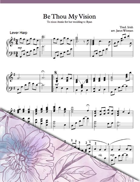Be Thou My Vision Lever - Harp Sheet Music - Brandywine Harps