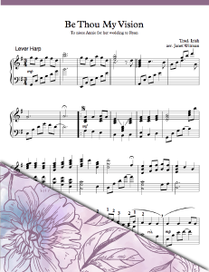 Be Thou My Vision Lever - Harp Sheet Music - Brandywine Harps