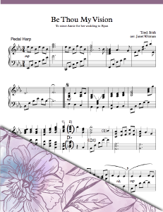 Be Thou My Vision Pedal - Harp Sheet Music - Brandywine Harps