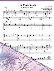 Winter Moon Harp 1 - Harp Sheet Music - Brandywine Harps