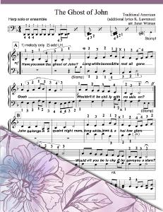 The Ghost of John - Harp Sheet Music - Brandyine Harps